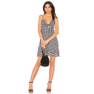 Rails August Front Knot Black Gingham Dress NEW